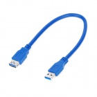 USB 3.0 Male to Female Extension Cable - Blue (30cm)