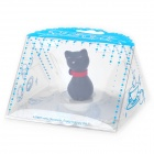 Elegant Cat Style Silicone Cup Cover Lid - White
