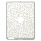 Artificial Leopard Leather Cover Protective Silicone Back Case for Ipad 2 / The New Ipad - White