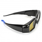 Universal USB Rechargeable 3D Active Shutter Glasses for DLP Projectors - Black + Blue