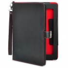 3-in-1 4400mAh External Battery PU Leather Flip Open Case for Ipad 2 / The New Ipad - Black