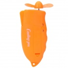 Handheld Portable Water Spray Cooling Fan with Carabiner Clip - Orange (1 x AA)