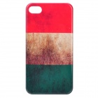 Retro Italian National Flag Pattern Protective PC Back Case for Iphone 4 / 4S - Red + White + Green