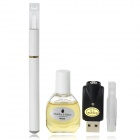 Quit Smoking USB Rechargeable High Density Electronic Cigarette w/ Apple Flavor Tar Oil - White