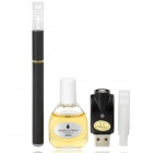 Quit Smoking USB Rechargeable Medium Density Electronic Cigarette w/ 555 Flavor Tar Oil - Black