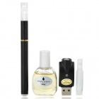 Quit Smoking USB Rechargeable High Density Electronic Cigarette w/ Tobacco Flavor Tar Oil - Black