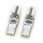 T5 0.5W 26~28LM 2x5050 SMD LED Car Blue Light Bulb for Dashboard (12V / Pairs)