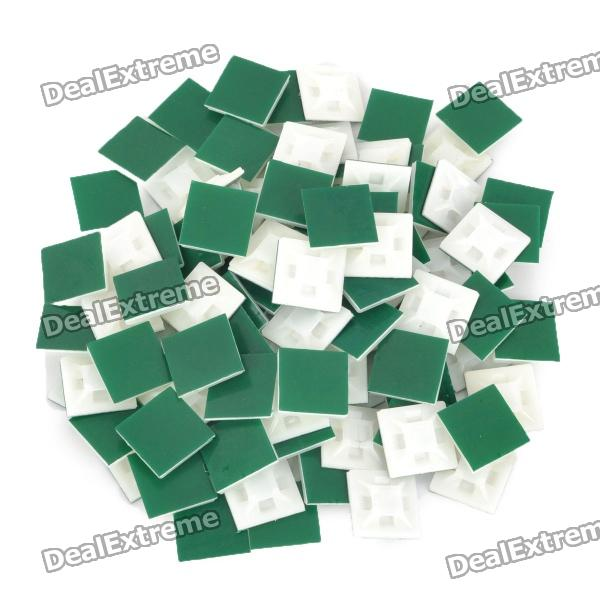 4-Way Adhesive Cable Tie базы транспорт (100-Piece Pack)