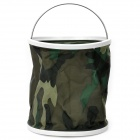 Thickened Folding Canvas Water Bucket - Camouflage (9L)
