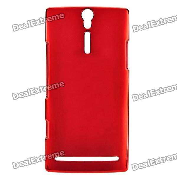 Momax Protective PC + Electroplating Metal Back Case for Sony Xperia S / LT26i - Deep Red