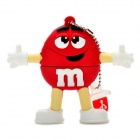 Red M&M Spokescandy Style USB 2.0 Flash Drive (4GB)