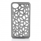 Electroplate Water Cube Skeleton Style Protective Plastic Back Case for Iphone 4 / 4S - Grey Silver