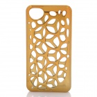 Electroplate Water Cube Skeleton Style Plastic Back Case for Iphone 4 / 4S - Golden