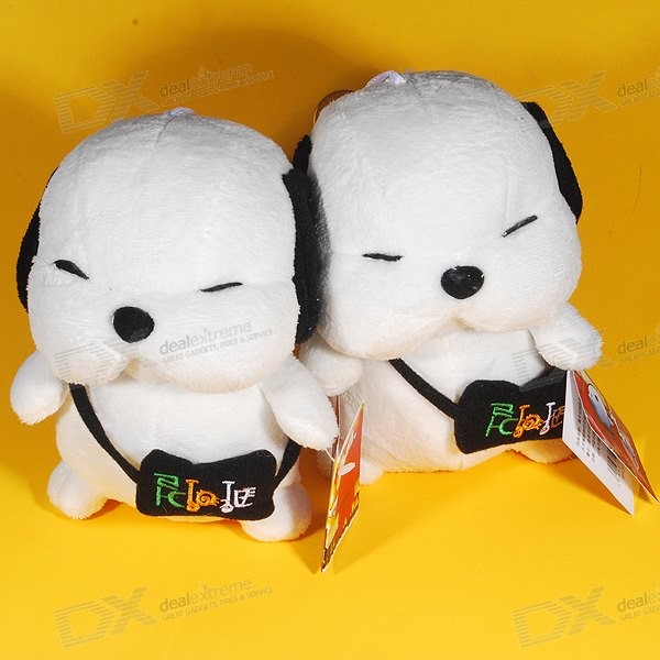 Lovely Puppy Soft Dolls Stereo Speakers (USB Powered)