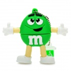 Green M&M Spokescandy Style USB 2.0 Flash Drive (8GB)