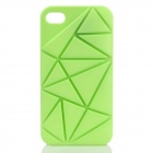 Irregular Gap Coin Stand Pattern Protective Plastic Back Case - Green