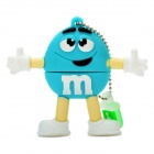 Blue M&M Spokescandy Style USB 2.0 Flash Drive (16GB)