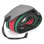 High-quality Adjustable Nylon Guitar Strap - Red + Black + Green (60-120cm)