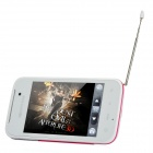 "L621 Android 2.3 GSM Cellphone w / 3,5"" resistiivinen, Quad-Band, TV ja Bluetooth - ruusuinen + valkoinen"