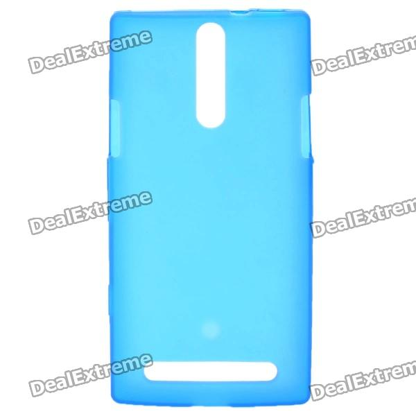 Protective PVC Back Case for Sony Xperia S / LT26i - Blue cell phone brand new repair parts for sony xperia s lt26i backlight back light flex refurbishment replacement
