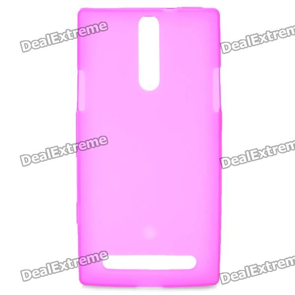 Protective PVC Back Case for Sony Xperia S / LT26i - Deep Pink protective pvc plastic back case for doogee dg310 deep pink