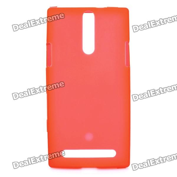 Protective PVC Back Case for Sony Xperia S / LT26i - Red cell phone brand new repair parts for sony xperia s lt26i backlight back light flex refurbishment replacement