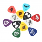 Alice AP-12C 0.46mm/0.71mm/0.81mm Plastic Guitar Picks (12-Piece)
