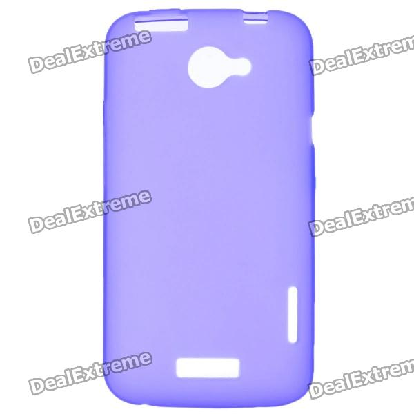 Protective PVC Back Case for HTC One X / S720e - Purple matte protective pe back case for htc one x s720e deep pink