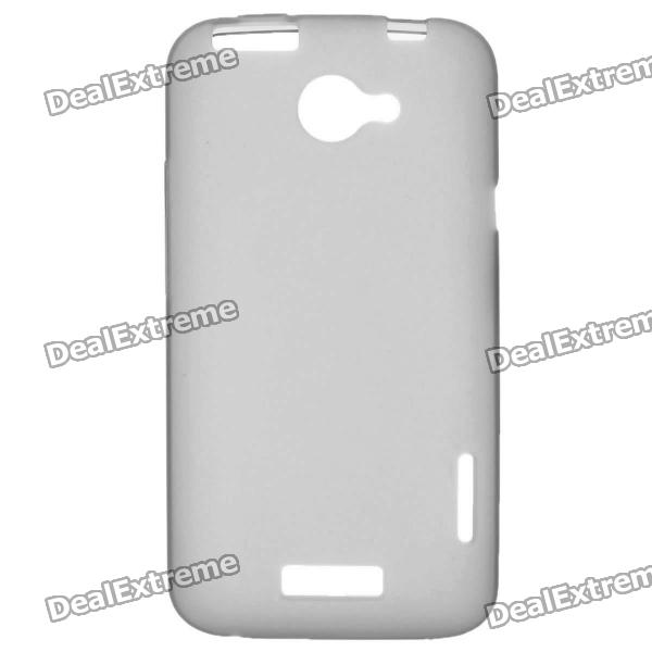 Protective PVC Back Case for HTC One X / S720e - Grey matte protective pe back case for htc one x s720e deep pink