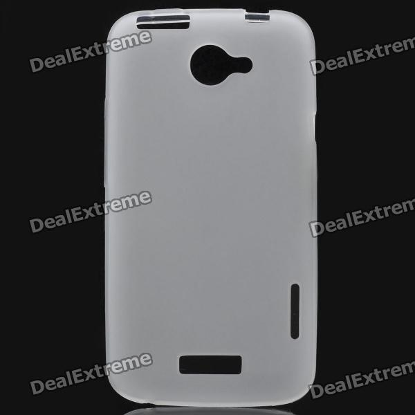 Protective PVC Back Case for HTC One X / S720e - White matte protective pe back case for htc one x s720e deep pink