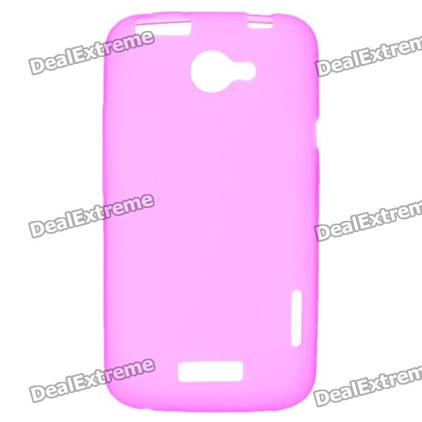 Protective PVC Back Case for HTC One X / S720e - Deep Pink matte protective pe back case for htc one x s720e deep pink