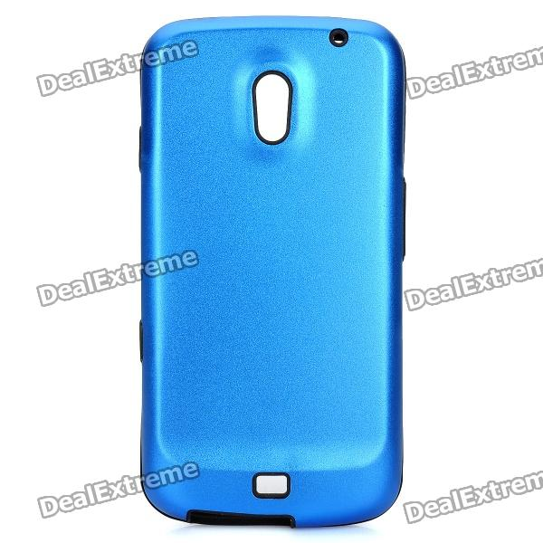 Protective Silicone Back Case w/ Aluminum Cover for Samsung Galaxy Nexus / i9250 - Deep Blue