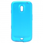 Protective Silicone Back Case w/ Aluminum Cover for Samsung Galaxy Nexus / i9250 - Blue