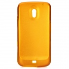 Protective Silicone Back Case w/ Aluminum Cover for Samsung Galaxy Nexus / i9250 - Golden