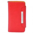 KALAIDENG Protective PU Leather Case for Sony LT26i - Red (2 Card Slots)