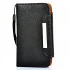 KALAIDENG Protective PU Leather Case w/ Strap for Sony LT26i - Black