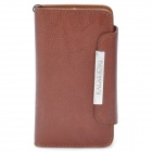 KALAIDENG Protective PU Leather Case for Sony LT26i - Brown