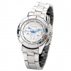 Elegant Stainless Steel Women's Quartz Wrist Watch - White (1 x LR626)