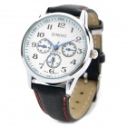 Elegant PU Band Women's Quartz Wrist Watch - Black + White (1 x LR626)