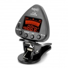 "1.3"" LCD Display Clip-on Tuner for Guitar/Bass - Black"