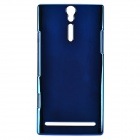 Momax Protective PC + Electroplating Metal Back Case for Sony Xperia S / LT26i - Deep Blue