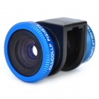 12mm 180-Degree Wide Angle Fisheye Lens for iPhone 4 / iPhone 4S - Blue + Black