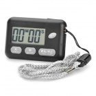 "1.6"" LCD Chronograph Digital Sports Stopwatch with Strap - Black (1 x 357A)"