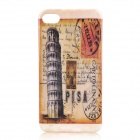 Retro The Leaning Tower of Pisa Pattern Protective Plastic Back Case for Iphone 4 / 4S
