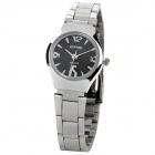 Elegant Stainless Steel Band Women's Quartz Wrist Watch - Black (1 x LR626)