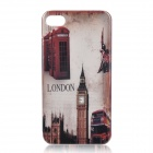 Retro Big Ben Protective Plastic Back Case for Iphone 4 / 4S - Long Shot
