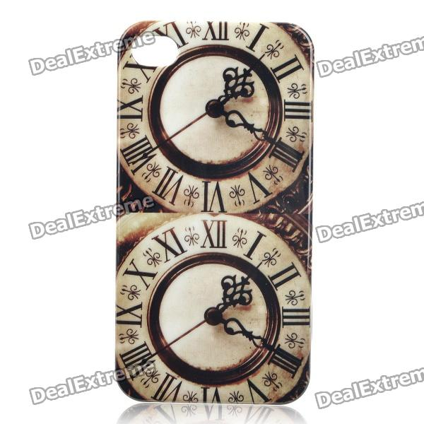 Retro Double Big Ben Pattern Protective Plastic Case for Iphone 4 / 4S - Brown + Beige насадка триммер для bosch amw 10