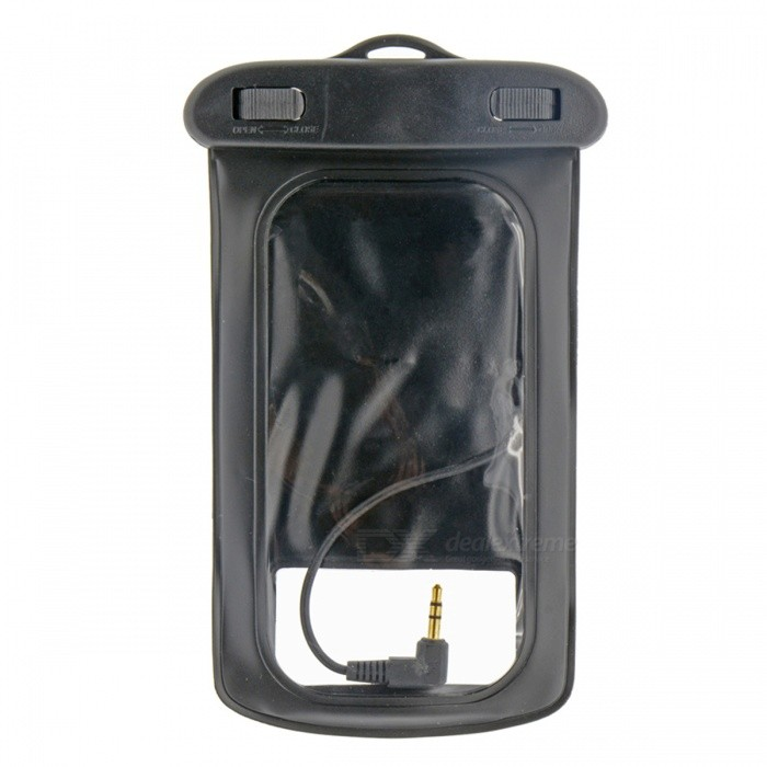 WP-510 Universal Waterproof Bag Case w/ Earphone for Cell Phone + More - Black