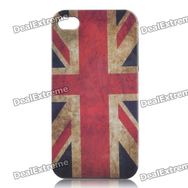 Retro The UK National Flag Pattern Protective Plastic Back Case for Iphone 4 / 4S - Red + White цена и фото