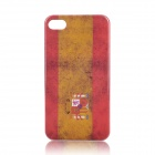 Retro Spain National Flag Pattern Protective Plastic Back Case for Iphone 4 / 4S - Red + Yellow